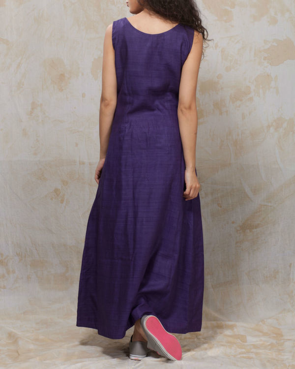 Purple long dress 2