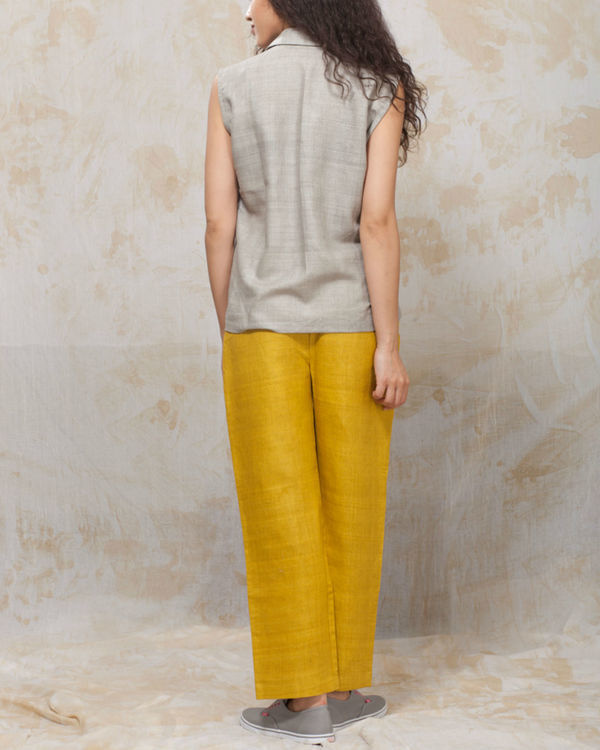 Yellow sunflower trousers 1