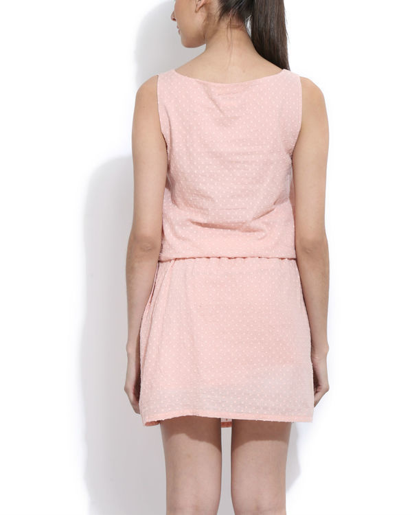 Peach embroidered dress 2