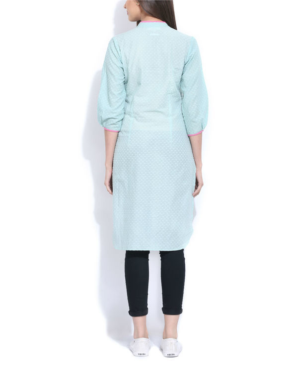 Mint embroidered  tunic 1