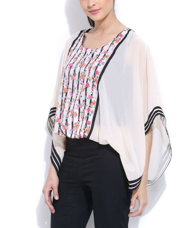 Panelled poncho top 2