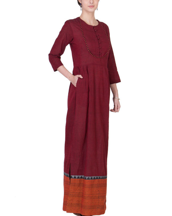 Maroon and orange maxi 3