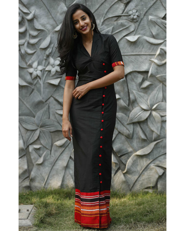Black cotton silk maxi 2