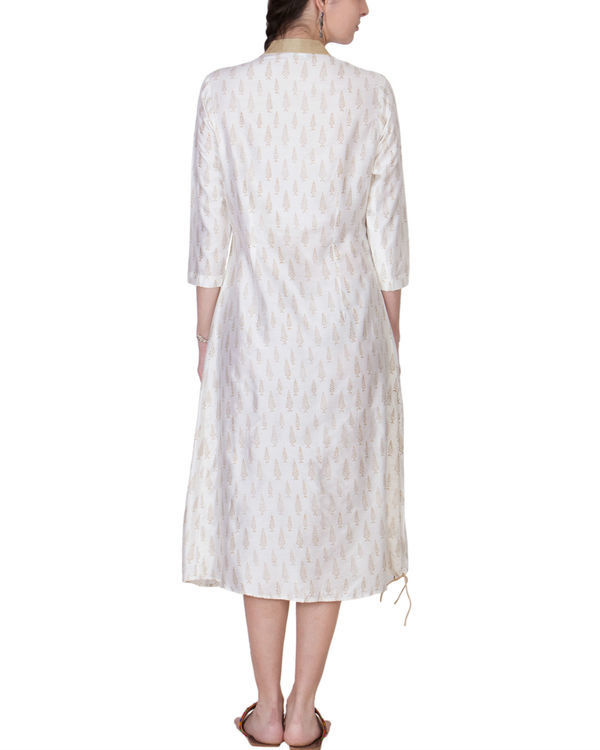 White cotton silk tunic 1