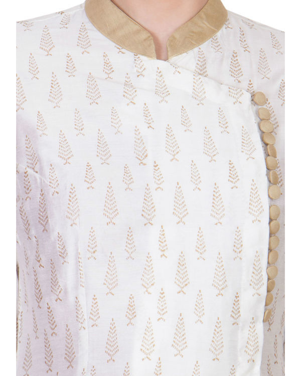 White cotton silk tunic 2