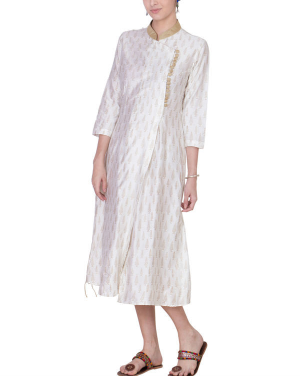 White cotton silk tunic 3