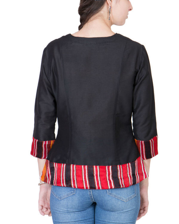 Black cotton silk top 2