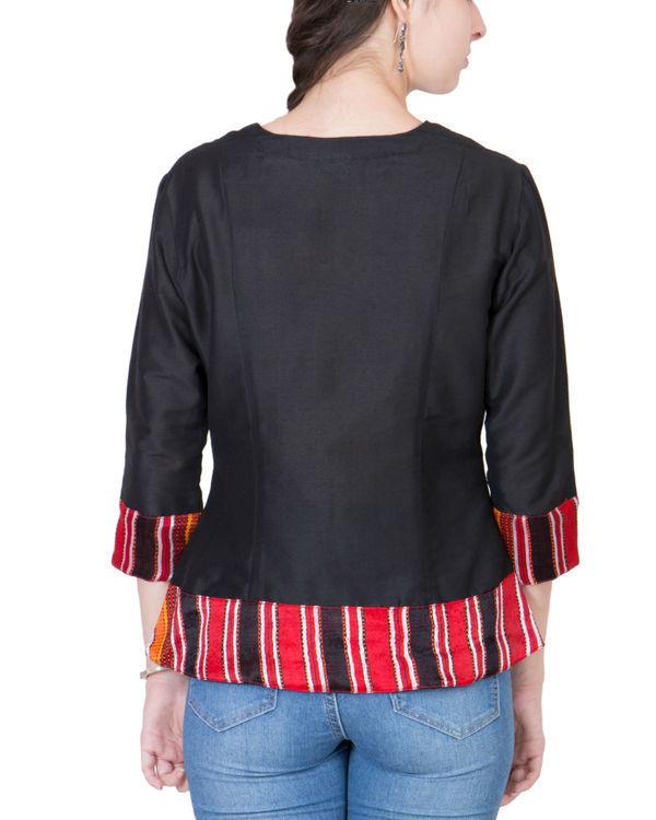 Black cotton silk top 2