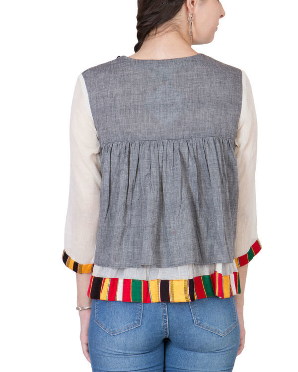 Grey mangalgiri cotton top 2