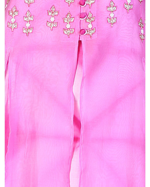 Set of pink double layered tunic with palazzo 1