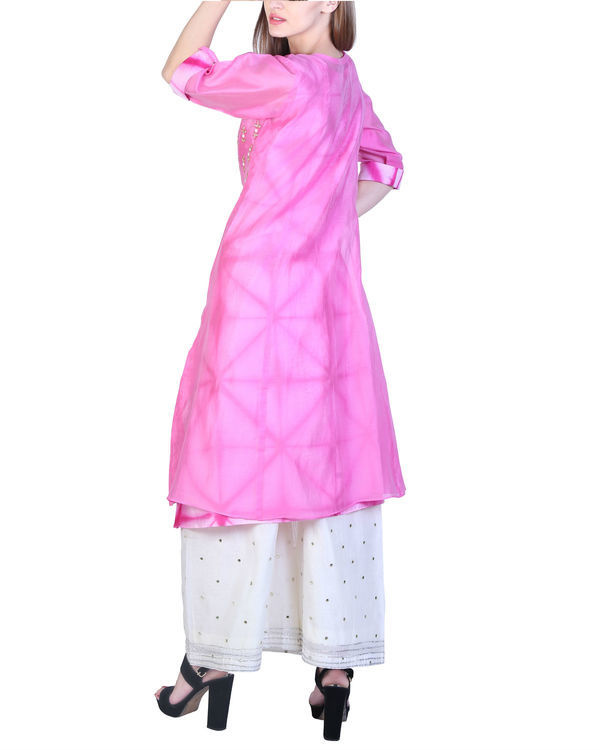 Set of pink double layered tunic with palazzo 2
