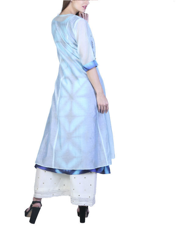 Set of jade blue double layered tunic with palazzo 1