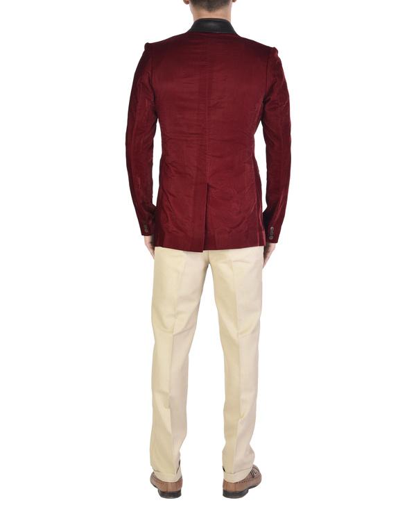 Maroon velvet jacket 1