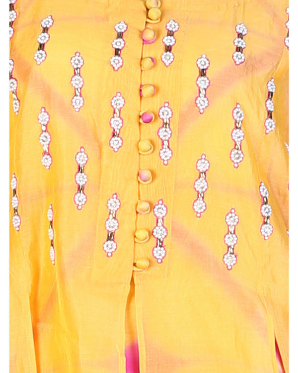 Orange double layered tunic with palazzo 3