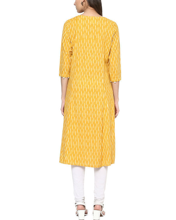 Yellow ikat kurta 1