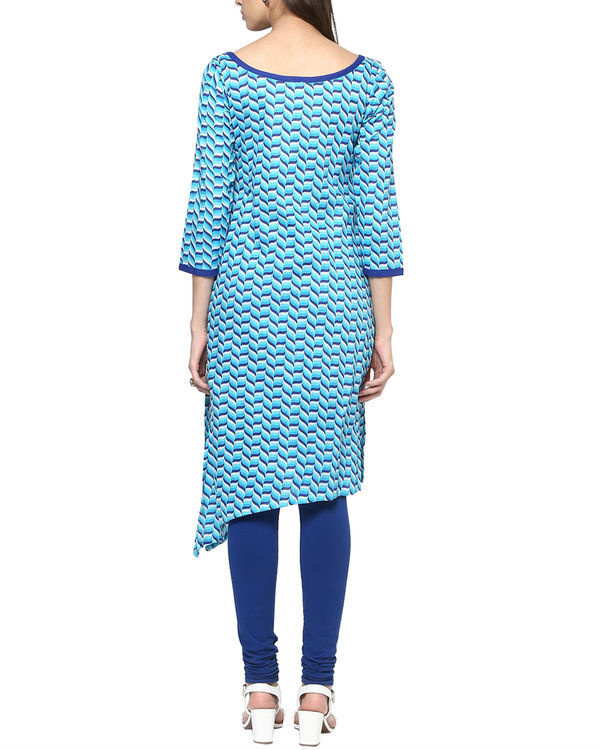 Blue tessellated kurta 1