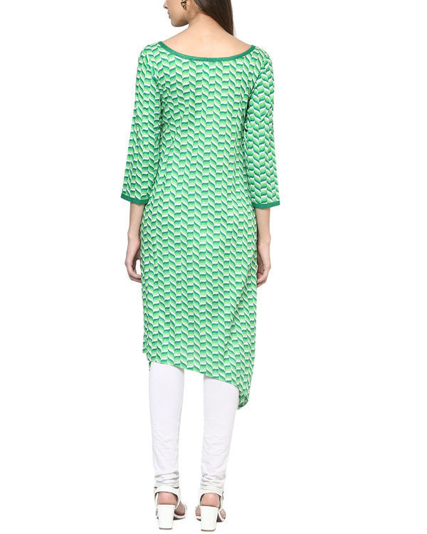 Green tessellated kurta 1