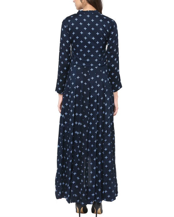 Blue high low kurta 1