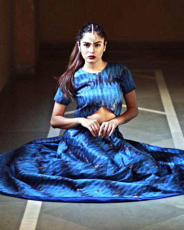 Blue ghaghra set 1