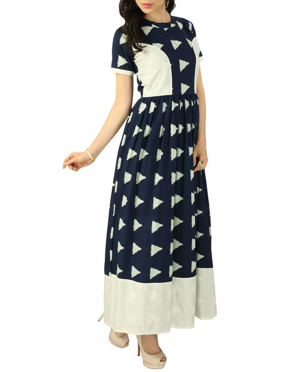 Navy block dress 1