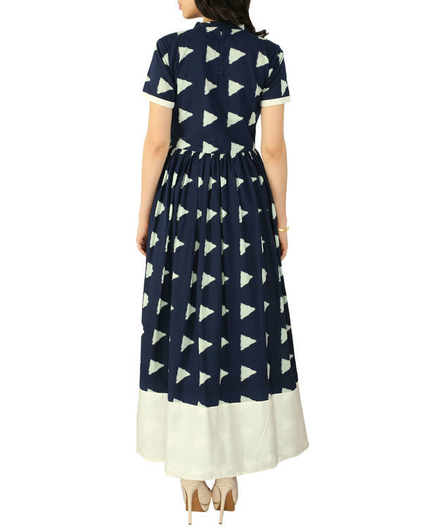 Navy block dress 2