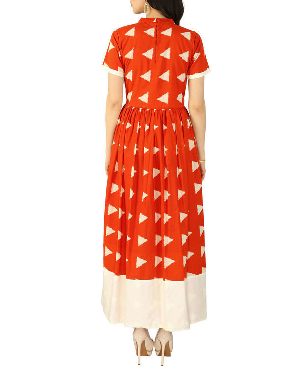 Orange block dress 2