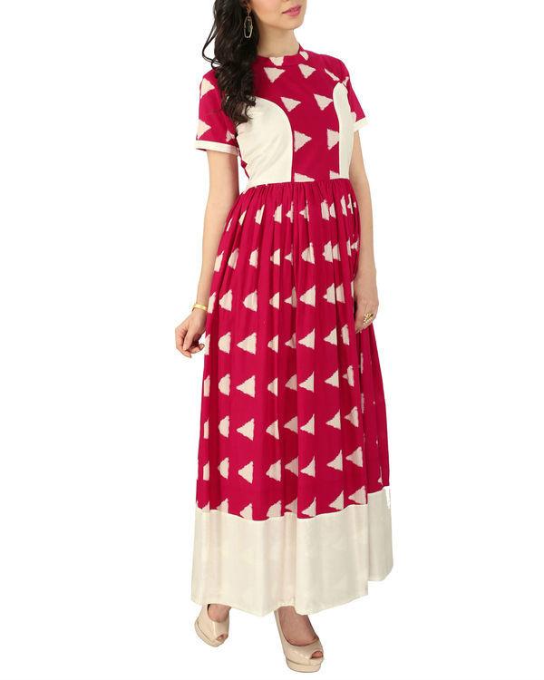 Pink block dress 1