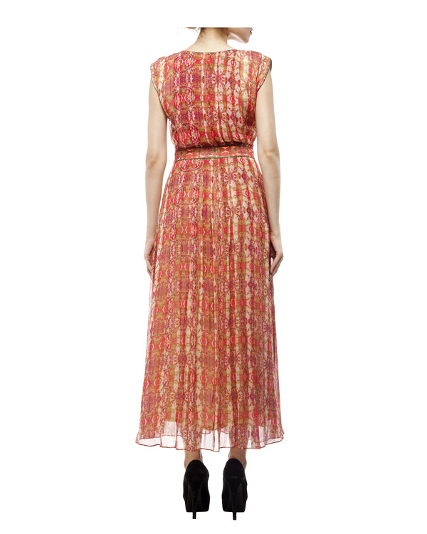 Digital print  shantoon long dress 2