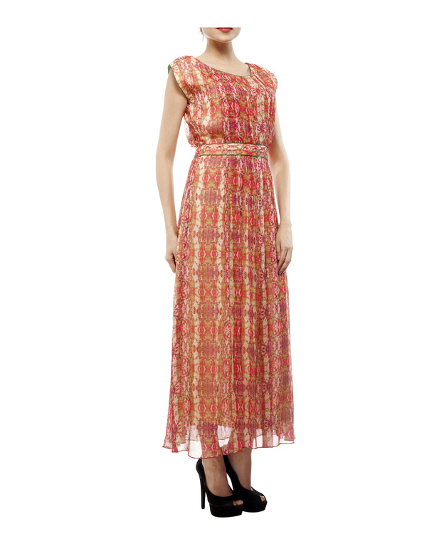 Digital print  shantoon long dress 3