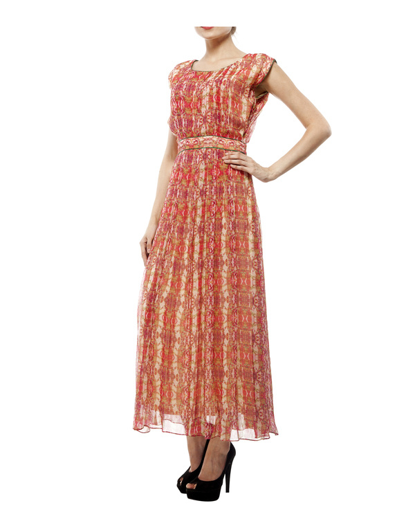 Digital print  shantoon long dress 4