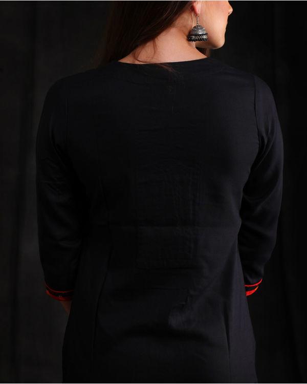 Black rayon Embellished kurta 1