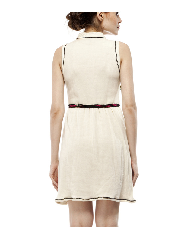 Jersey dress with belt 2
