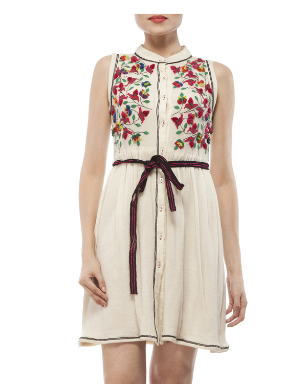 Jersey dress with belt 5