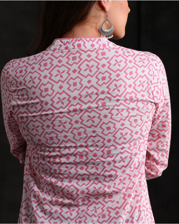 Pastel Pink Hand printed Kurta 1