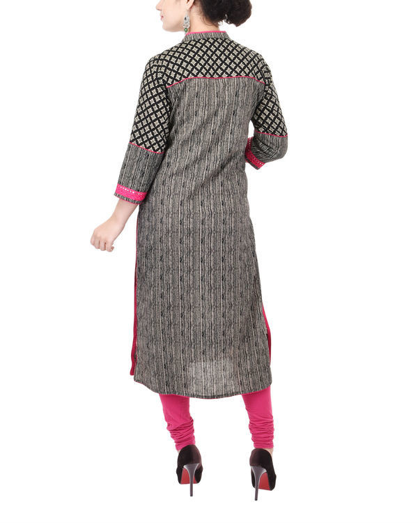 Kohl and rani yoke kurta 2