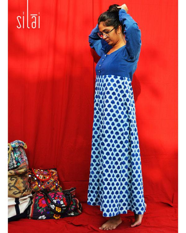Shades of blue maxi dress 1