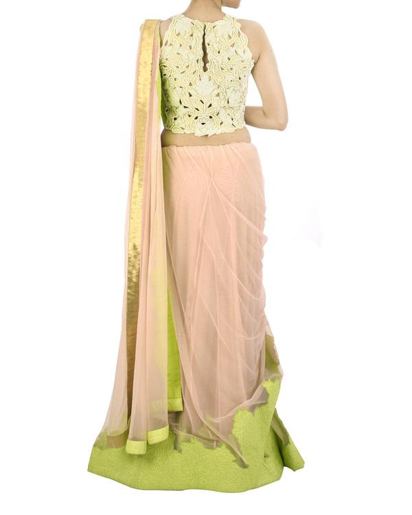 Pink net sari 3