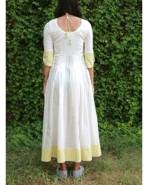 White yellow summer anarkali 1