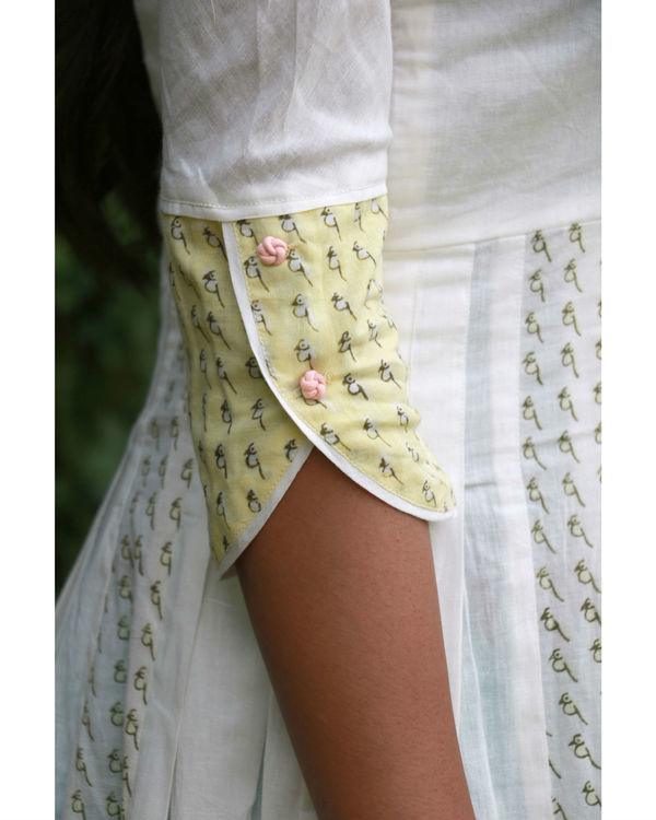 White yellow summer anarkali 2