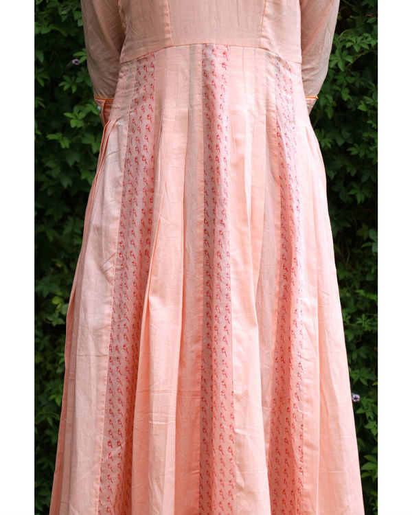 Peach summer anarkali 2