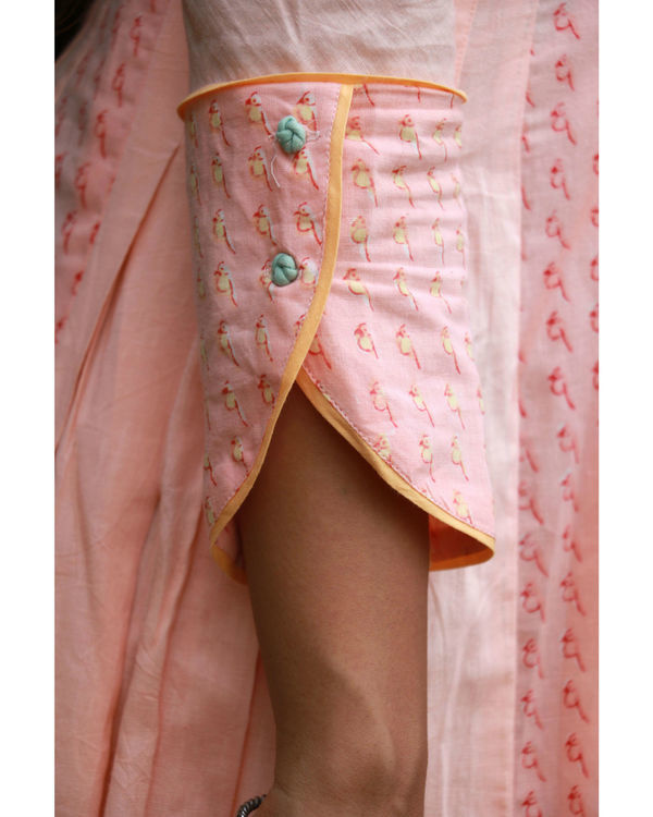 Peach summer anarkali 3