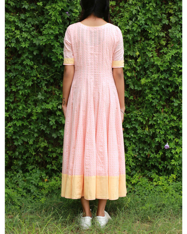 Peach yellow anarkali 2