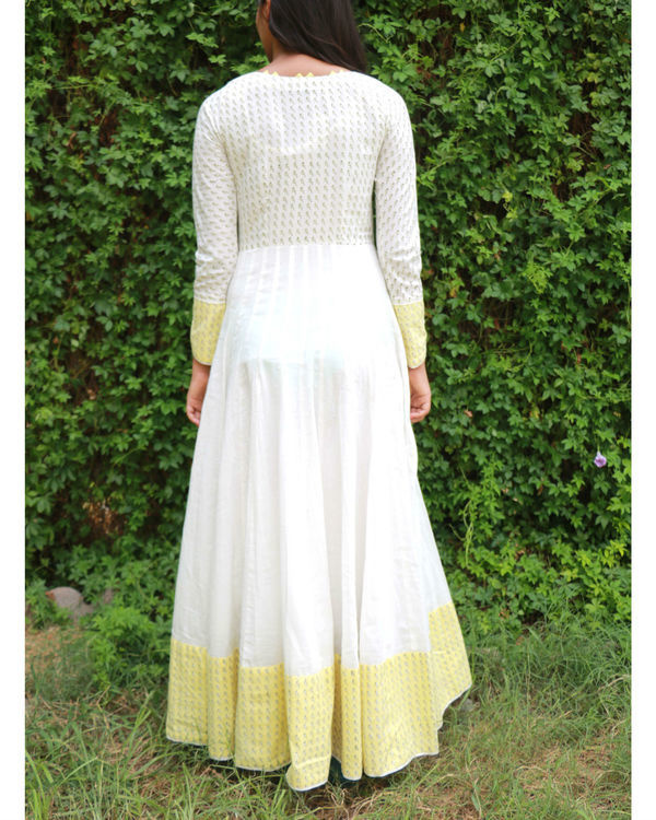 White flared anarkali 1