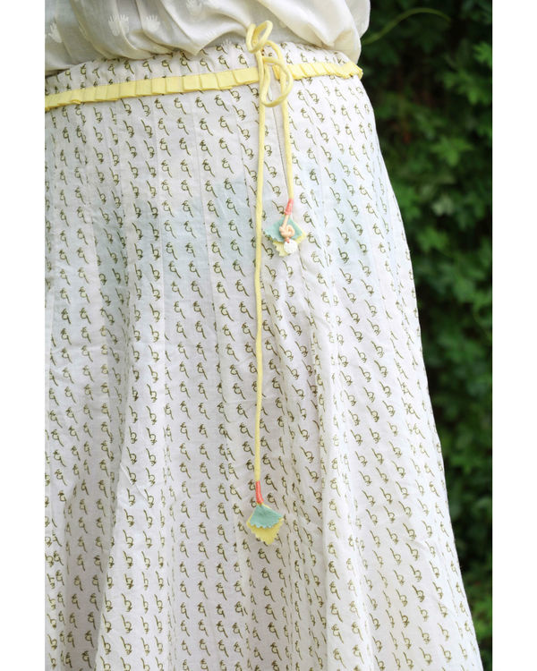 White yellow summer skirt 2