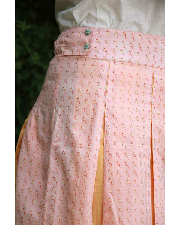 Peach box pleated skirt 2