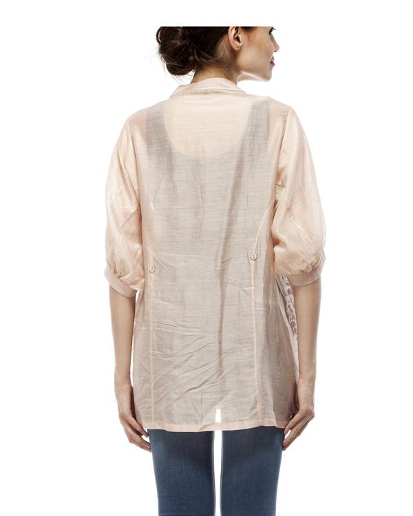 Cotton silk applique shirt 2