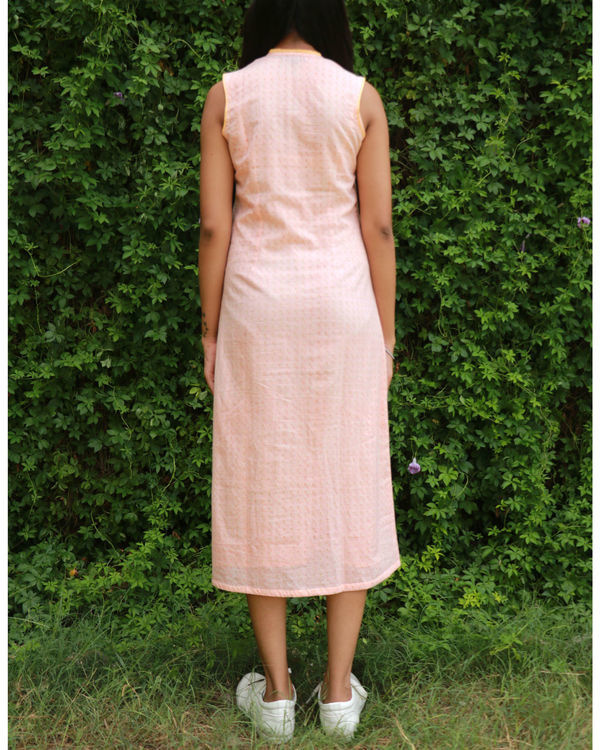 Peach a-line dress 1