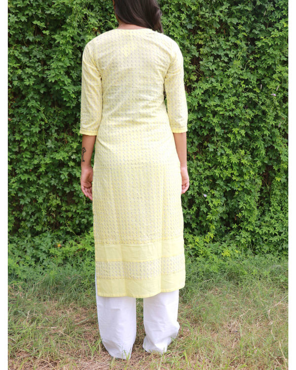 Yellow kurta with shoulder opening 2