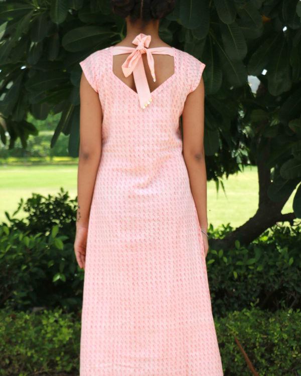 Peach bow dress 1