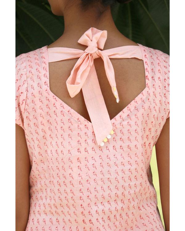 Peach bow dress 3
